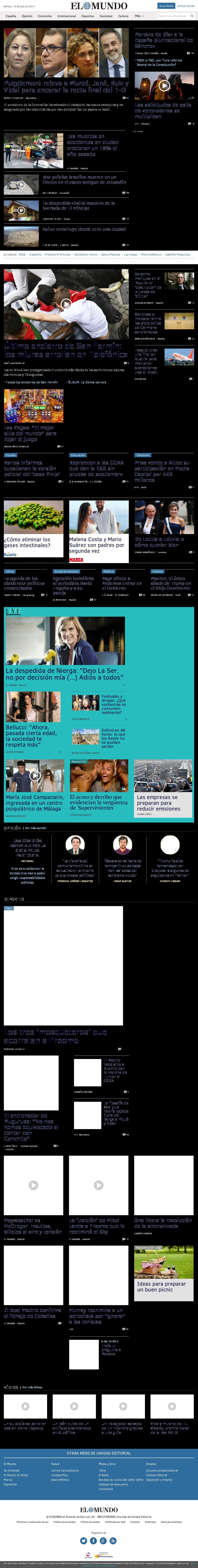 El Mundo at Friday July 14, 2017, 10:12 a.m. UTC