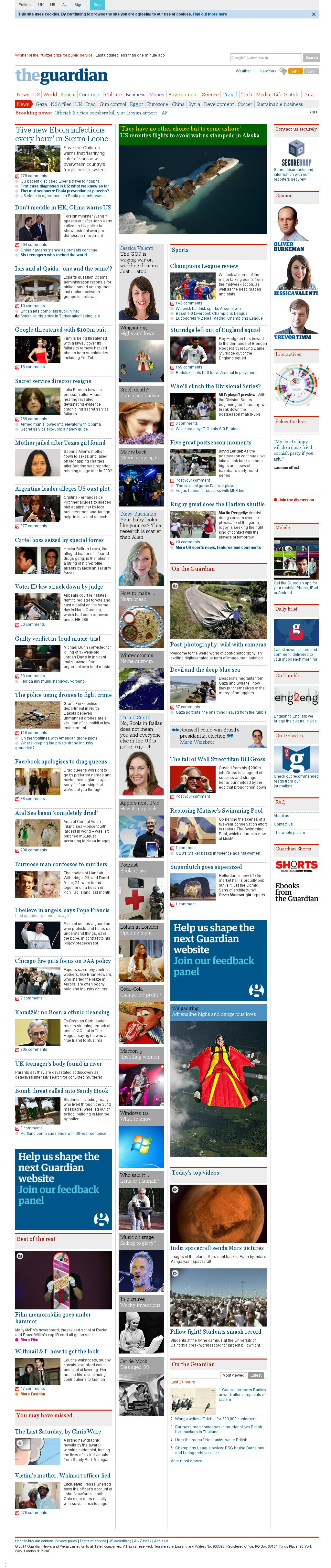 The Guardian at Thursday Oct. 2, 2014, 1:06 p.m. UTC