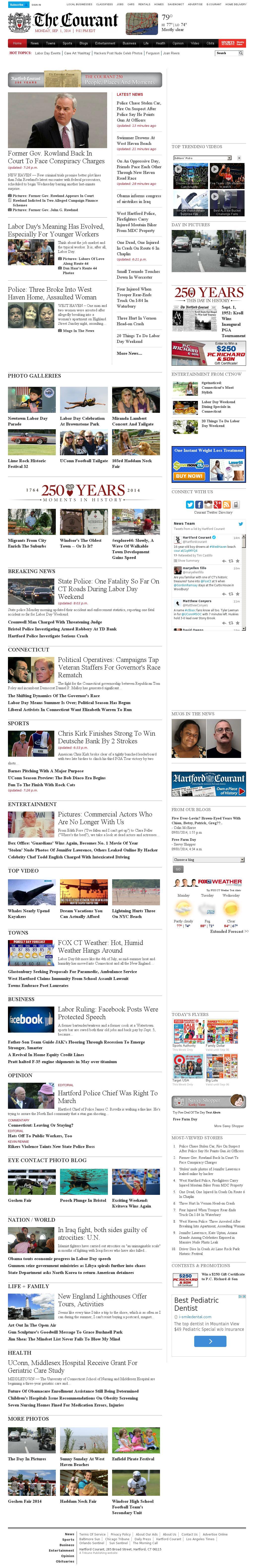 Hartford Courant at Tuesday Sept. 2, 2014, 1:08 a.m. UTC