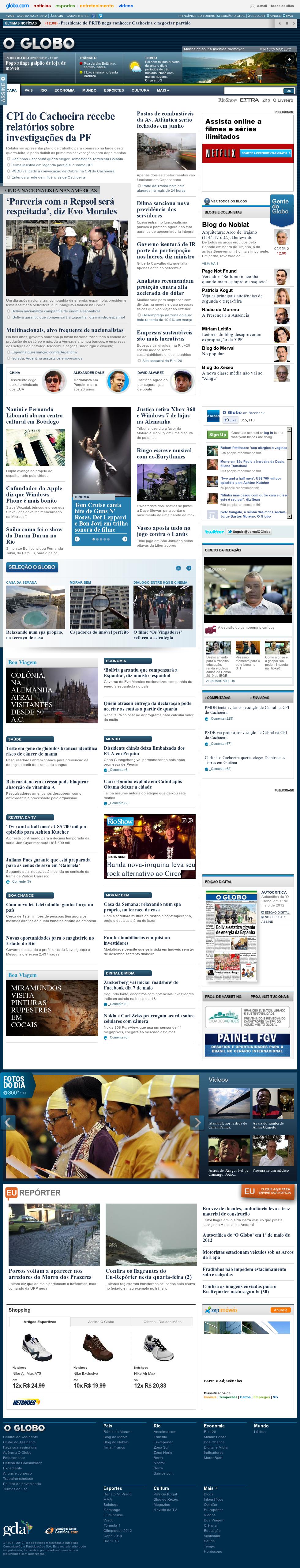 O Globo at Wednesday May 2, 2012, 3:09 p.m. UTC