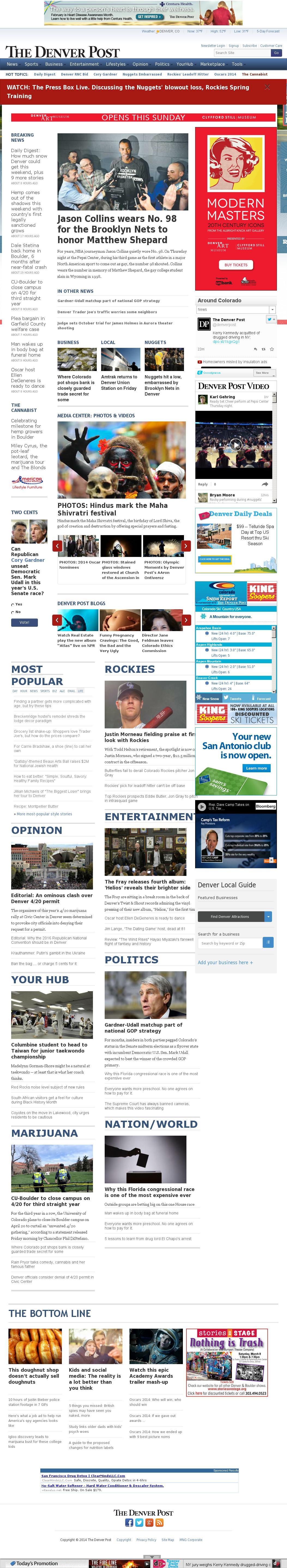 Denver Post at Friday Feb. 28, 2014, 4:03 p.m. UTC