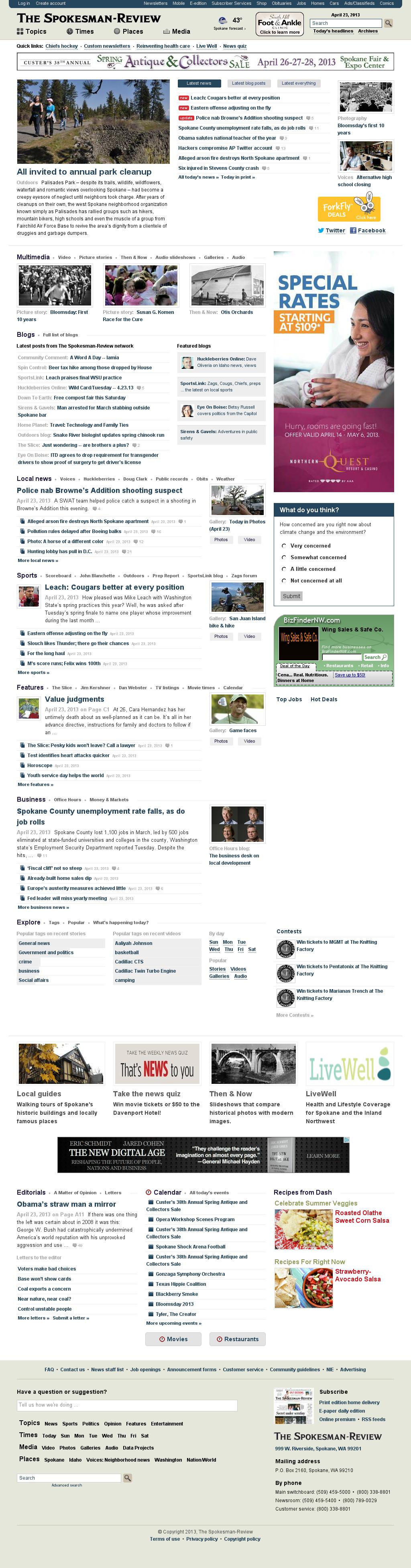 The (Spokane) Spokesman-Review at Wednesday April 24, 2013, 4:21 a.m. UTC
