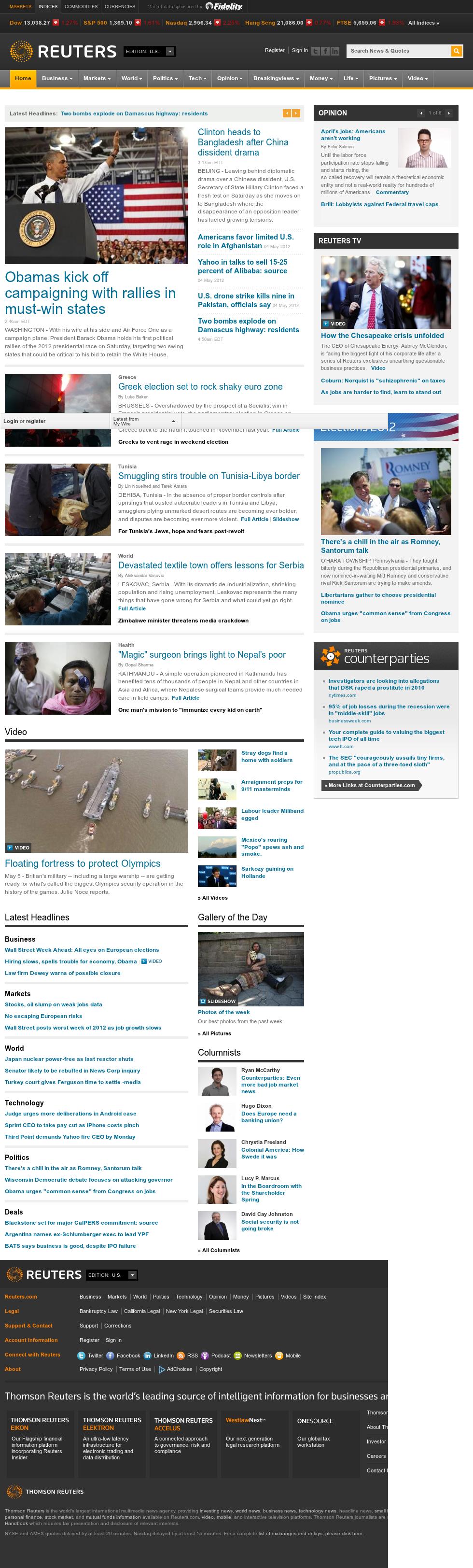 Reuters at Saturday May 5, 2012, 10:11 a.m. UTC