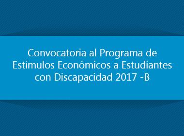 Programa de Estímulos Económicos para Estudiantes con Discapacidad