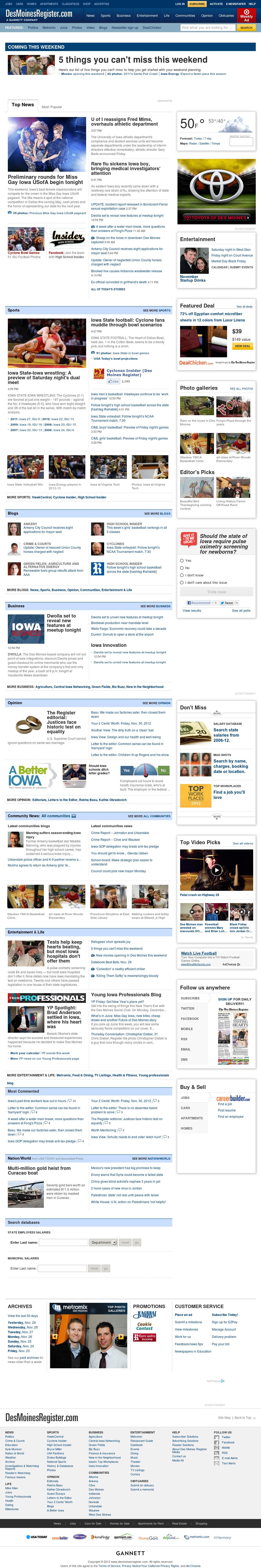 DesMoinesRegister.com at Saturday Dec. 1, 2012, 12:08 a.m. UTC