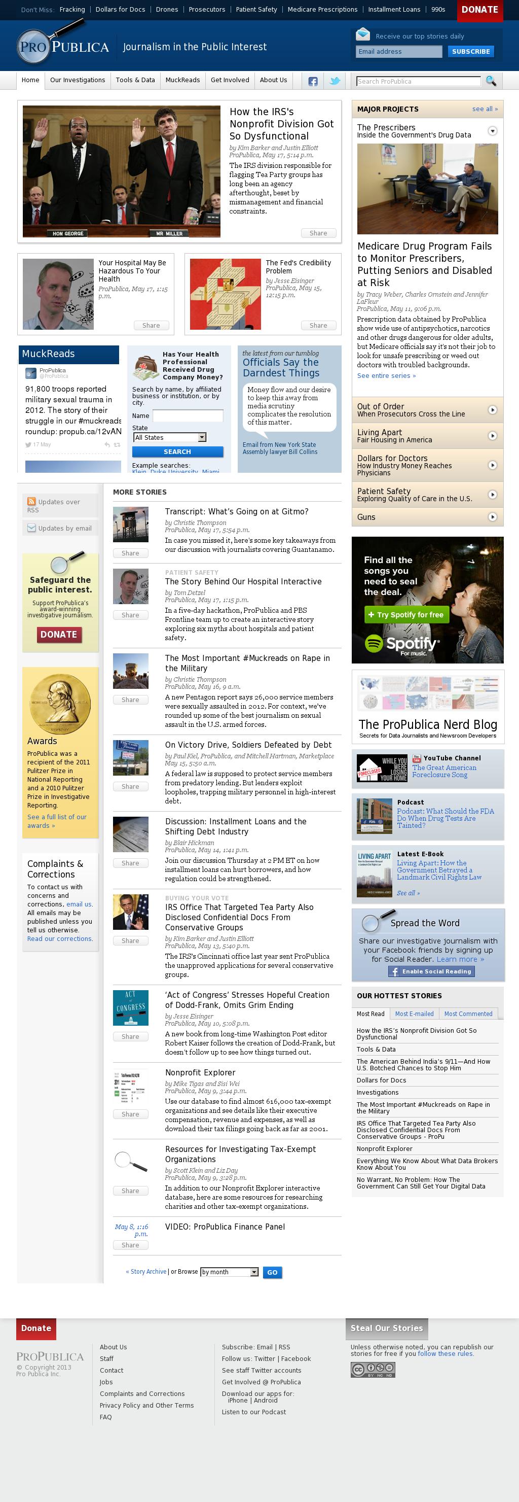 ProPublica at Sunday May 19, 2013, 3:17 p.m. UTC